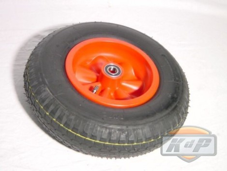 Wheel red 4.80/400-8 (Rueda Completa Roja)