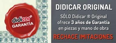 Solo Didicar Original ofrece 3 años de garantia. Rechace imitaciones
